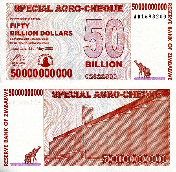 Zimbabwe Dollars Banknotes
