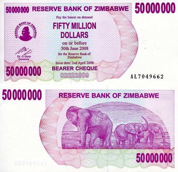 50,000,000 (50 Million) Dollars  UNC Banknote