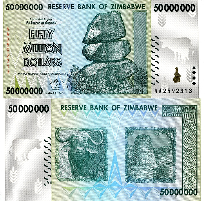 50,000,000 Dollars (50 Million)  UNC Banknote