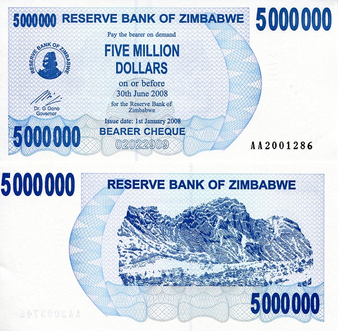 5,000,000 Dollars (5 Million)  UNC Banknote
