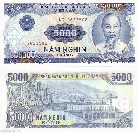 5000 Dong  UNC Banknote