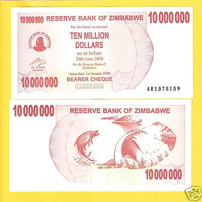 10 Million Dollars  UNC Banknote