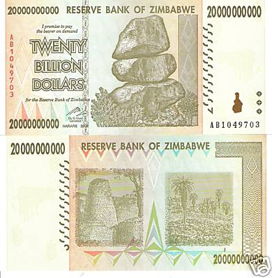 20 Billion Dollars  UNC Banknote