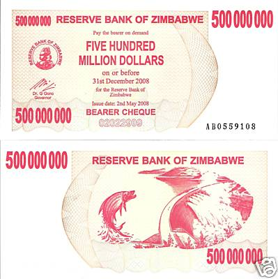 500 Million Dollars  UNC Banknote