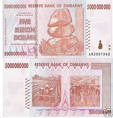 5 Billion Dollars  UNC Banknote